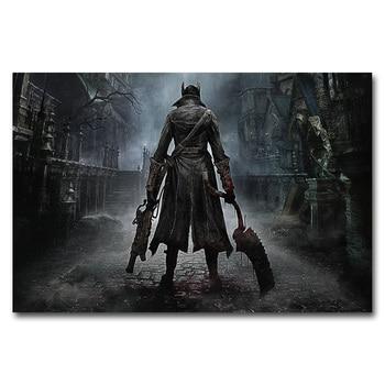 Шелковый Плакат Гобелен игра Bloodborne вариант 2