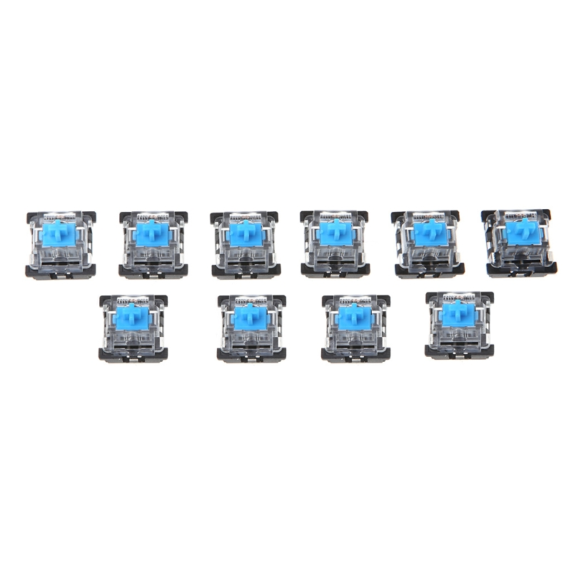 10Pcs 3 Pin KeyCaps Brown/Blue Mechanical Keyboard Switch For Cherry MX Keyboard