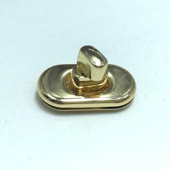 35 mm x 20 mm Golden twist locks, China bag making supplies, purse notions