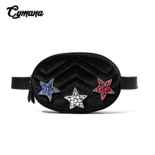 Waist Bag For Women Velvet Belt Luxury Brand Mini Fanny Pack Purse Ladies Fashion Bum Pentagram Bags