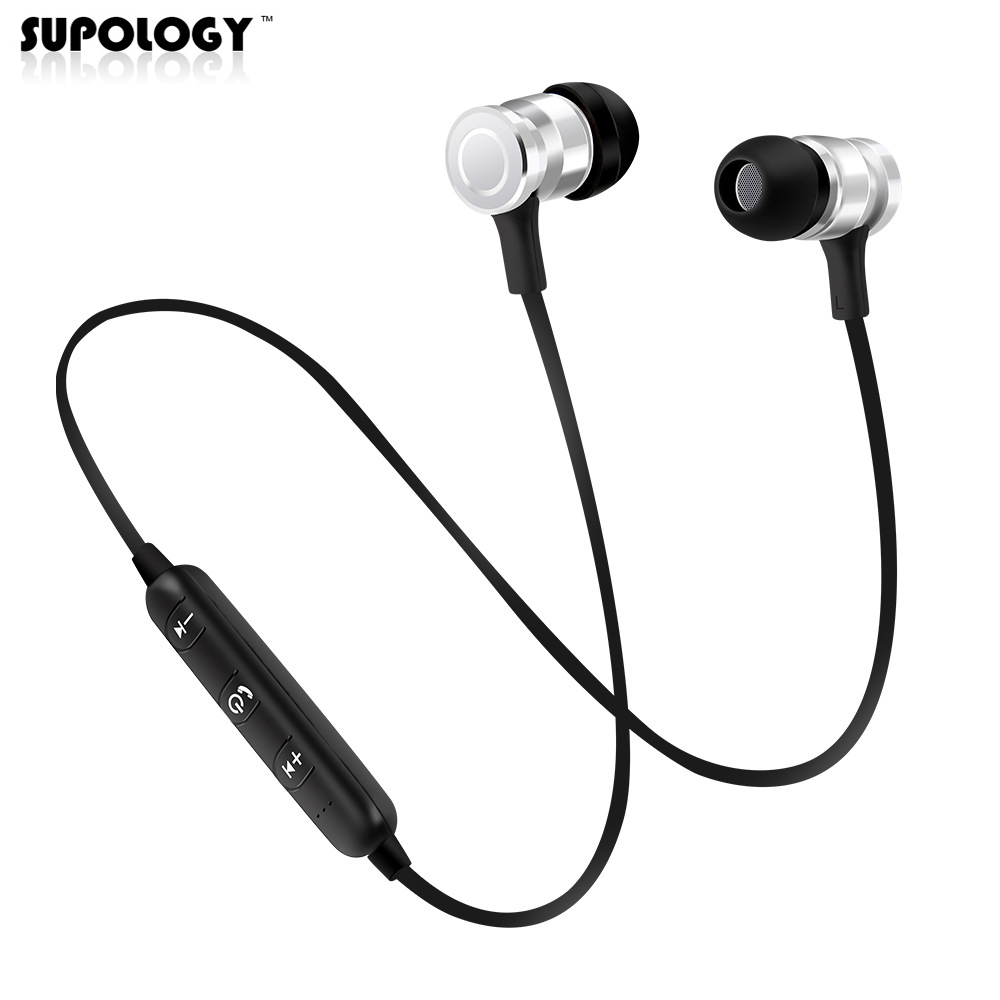 SUPOLOGY Sport Blutooth Earphone Headphone Wireless Magnet Earpiece Setero Super Bass Headset Earbuds with Mic for iPhone Xiaomi