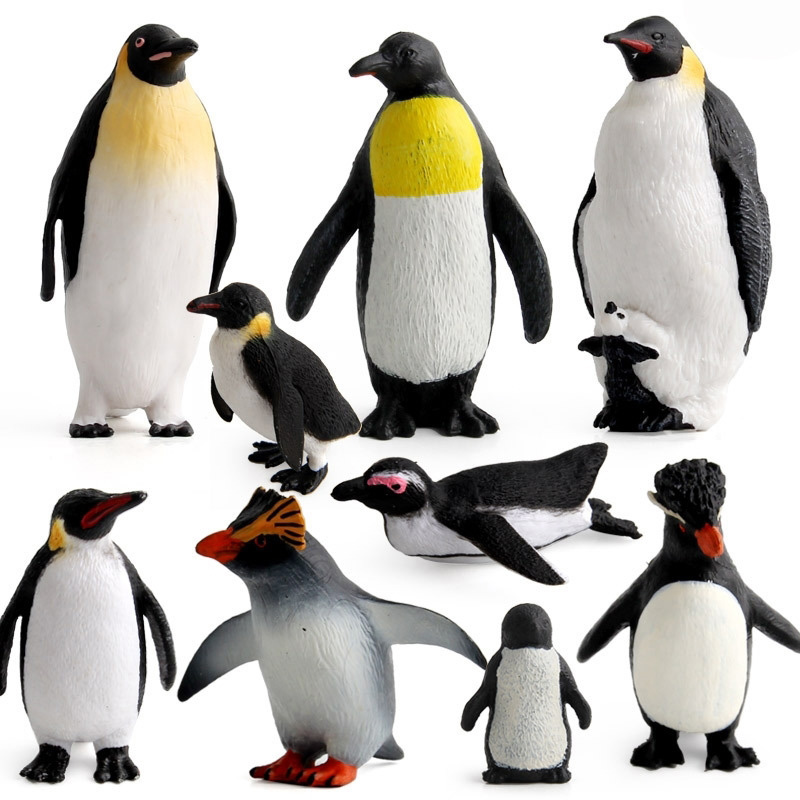 9 Kidns Simulation Penguin Multiple Modeling Animal Figure Collectible Toys Penguin Animal Action Figures Kids Soft Plastic Toys