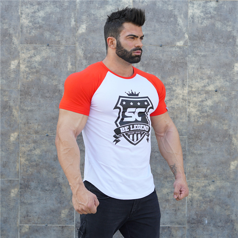 New Gym Men/'s Fashion Workout Cotton T-Shirts MuscleTops Fitness Tee Shirt