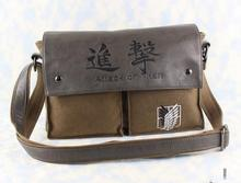 Attack on Titan Messenger Bag For Teenagers Printed PU Patchwork Cross Body Bags
