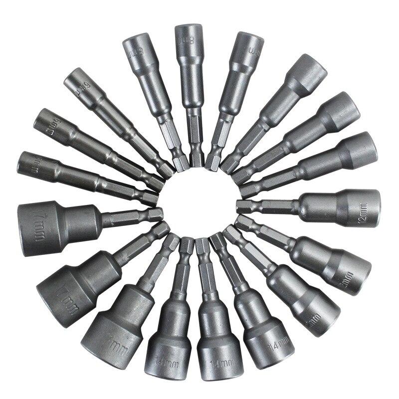 14 St Power Tool Nut Driver Set Quick Change Power Moer Driver Bit Nutdrivers Metrische Socket 6mm Hex Shank Impact Boor Adapter Geavanceerde TechnologieëN