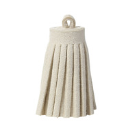 DoreenBeads Wholesale Beige Korean Velvet Suede Tassel Pendants For Cellphone Curtain Garment Jewelry Making 35mm, 10 PCs