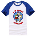 2017 Summer LOS POLLOS Hermanos T Shirt Chicken Brothers Short Sleeve Hot Sale Men's Fashion Breaking Bad Shirt men Tee Hipster