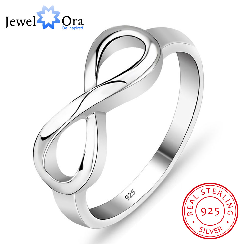Genuine 925 Brand Rings For Women Knot Ring Sterling Silver S925 Stamped  Silver Infinity Ring Best Gift(JewelOra Ri101995)-in Rings from Jewelry ...