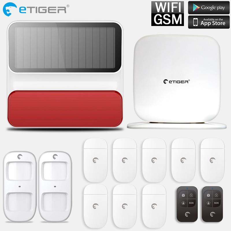 Système d'alarme GSM Android IOS APP système d'alarme antivol intelligent capteur de mouvement