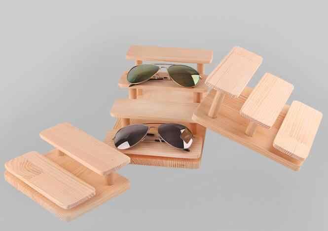 ¡Oferta! gafas de sol de madera multicapa estante expositor de gafas soporte de muestra joyería escritorio pulsera soporte collar estante de exhibición