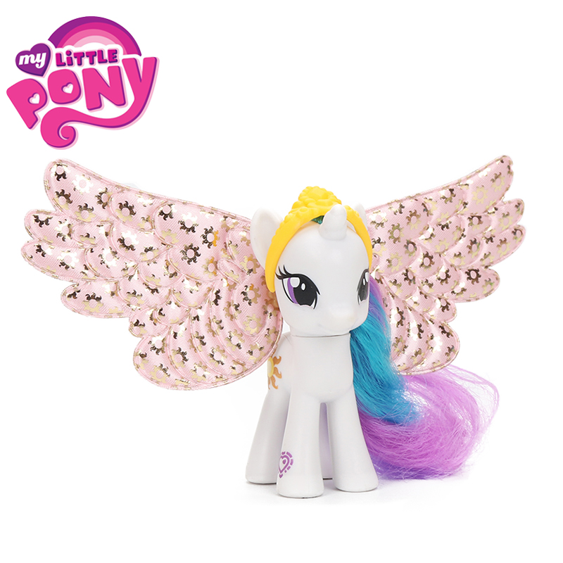 Original Explore Equestria My Little Pony Toys Princess Twilight Sparkle Celestia PVC Action Figure Pony Collection Model Dolls 16pcs set 4 6cm little pvc action toy figures horse princess celestia christmas gift for kids toys