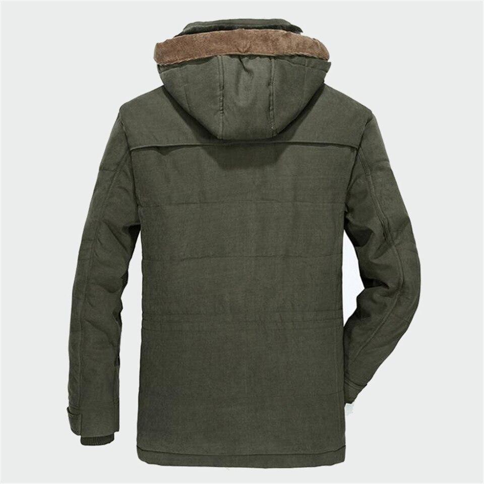 Winter Parka Men Coats 2019 Thick Warm Jacket Men Cotton Hooded Outwear Warm Parka Top Plus Velvet Couple Cotton Parka Coat 5