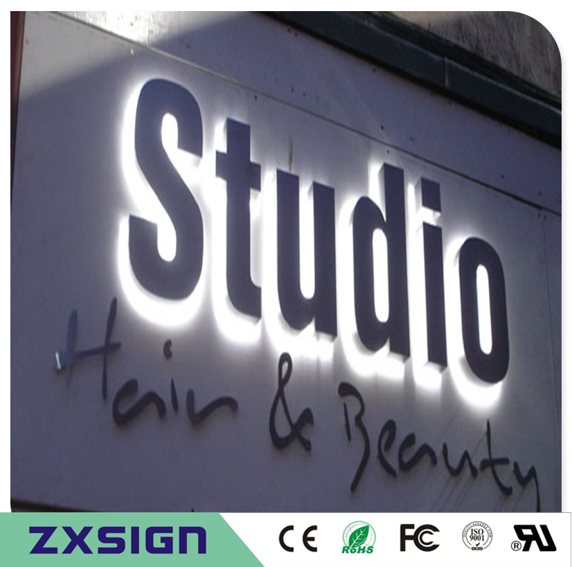 Factory Outlet Outdoor Advertising Backlit  Stainless Steel Led Letter Signs(China)