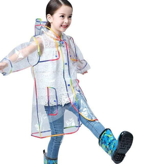 super popular great quality famous brand US $17.01   Transparent Waterproof Raincoat Boys and Girls Windproof Rain  Coat Rainbow Edging Poncho Children Outdoor Rainwear lb151-in Raincoats  from ...