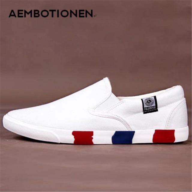 2016 Новая Коллекция Весна Лето мужская Повседневная Обувь Холст Обувь Мода Мужчины Обувь Мокасины Черный Белый Низкий Плоские Туфли Zapatos Hombre