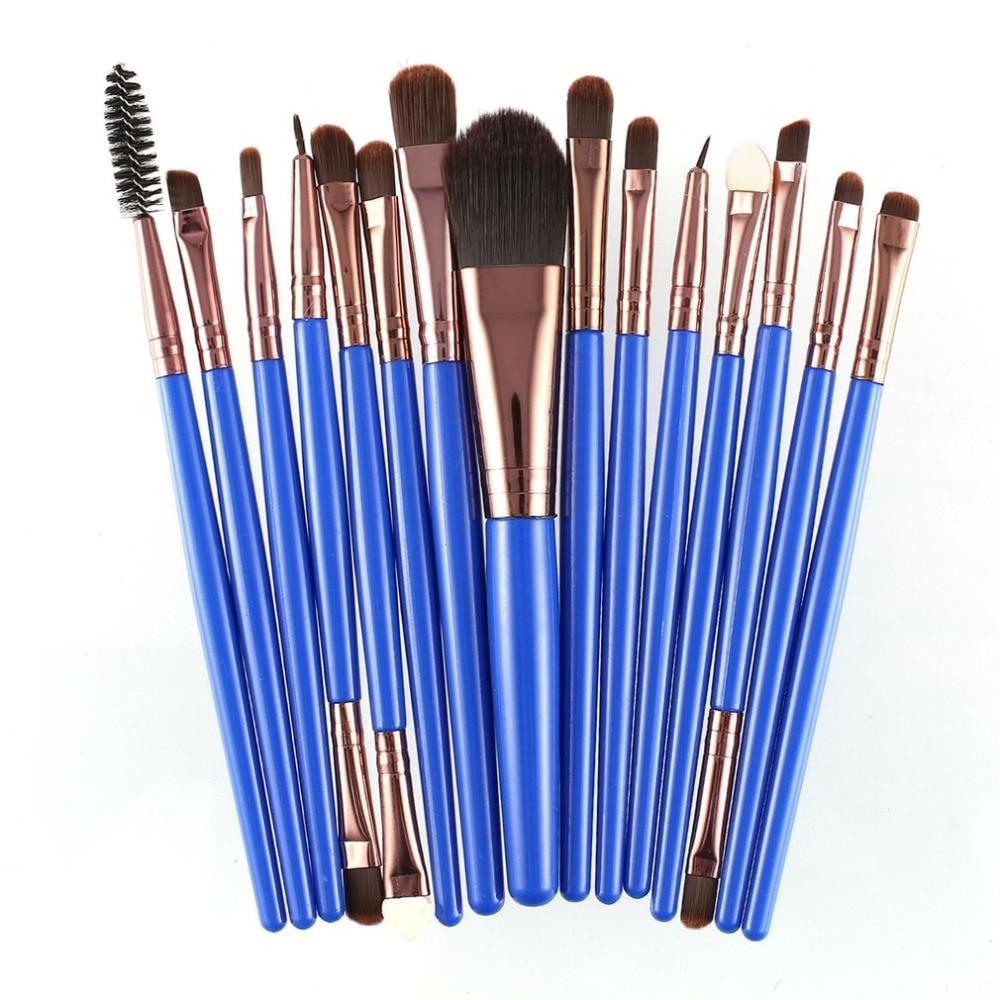 15pcs/set Makeup Brushes Sets Kit Eyelash Lip Foundation Powder Eye Shadow Brow Eyeliner Cosmetic Make Up Brush Beauty Tool