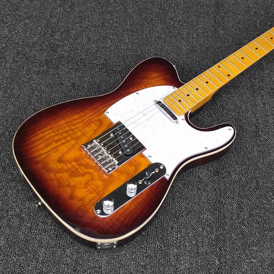 Brand New Standard TL Electric Guitar Maple Fretboard Chinese Custom Shop Sunburst  musical instruments guitarra in stock new brand custom shop 1960 bourbon burst lp guitar deluxe completed musical instruments chinese electric guitar free shipping