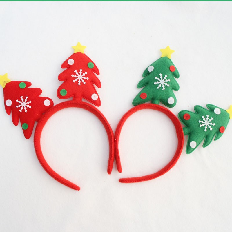 2016 New 3pcs Lot Christmas Headband Tree Shaped Head Buckle Hair Bands Accessories Xmas For Children On Aliexpress