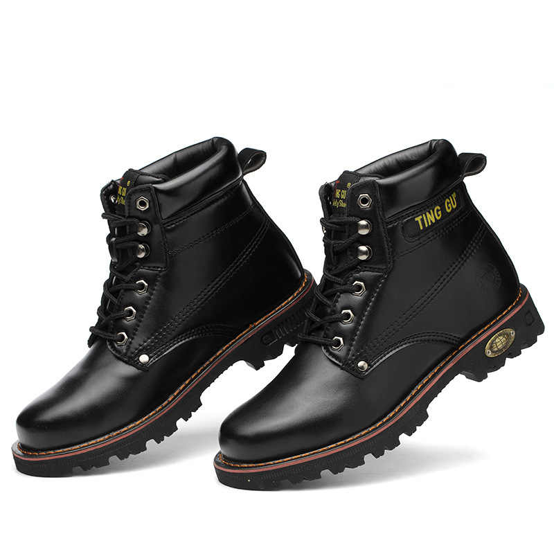 靴男性作業靴ブーツ鋼つま先キャップ抗スマッシング抗ピアス男性多機能保護靴安全靴 CS-380