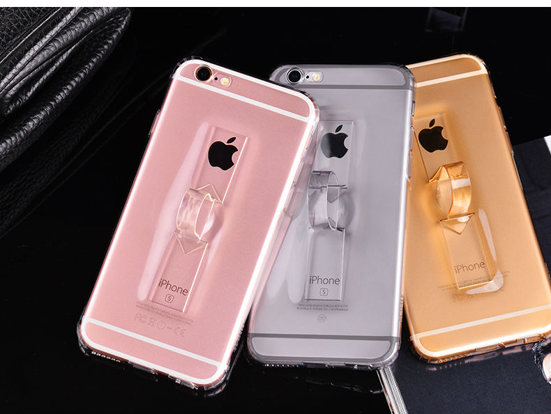 Case For Iphone 6 6s Plus 5.5 Silicone Phone Bags Cases Hybrid Shockproof Covers Iphone 6 Fundas With Ring Support Coque 6s Plus
