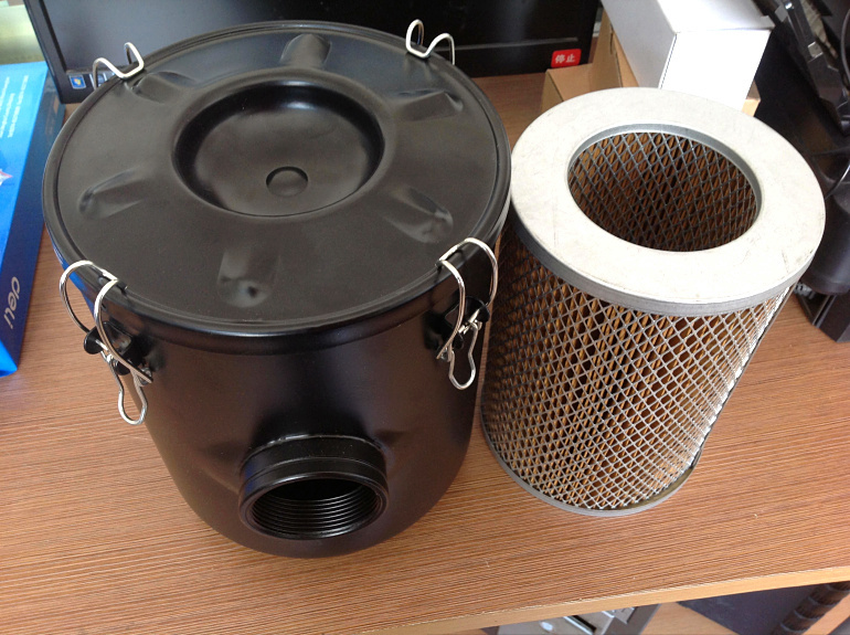 vacuum pump inlet filters F003-1   Rc1 1/2 industrial vacuum pump intake filter in housing 2 rc inlet