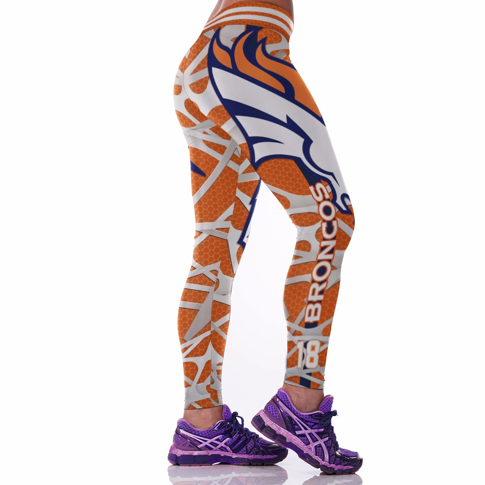 Kaywide 2017 New Broncos 3D Printed Sport Training Pants Women Fit body Running Tights workout Yoga Leggings Girls Tight Jogging