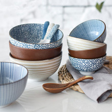 NIMITIME Ceramic High Quality Rice Spoon And Bowls Big Noodle Soup Bowl Tableware For Dinner