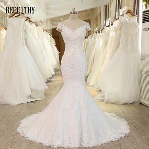 Image 1 - BEPEITHY Vestido De Novia con hombros descubiertos, novedad, vestidos De Novia con cuentas De encaje, sirena, boda, 2019