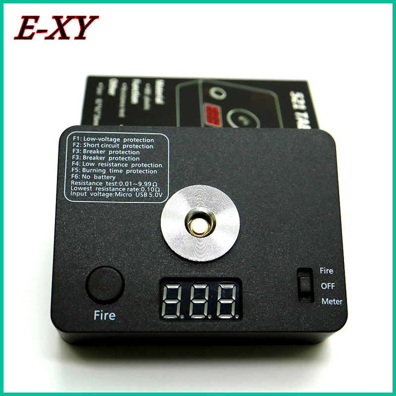 E-XY 521 TAB Mini V3 Tool Kit Ohm meters coil check Digital With Resistance Test/USB Charging Fit 18650 Battery