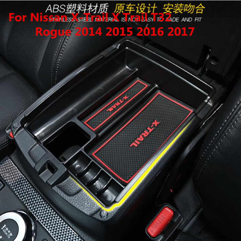 High Quality For Nissan X-Trail X Trail T32 Rogue 2014 2015 2016 2017 Black Central Storage Pallet Armrest Container Box