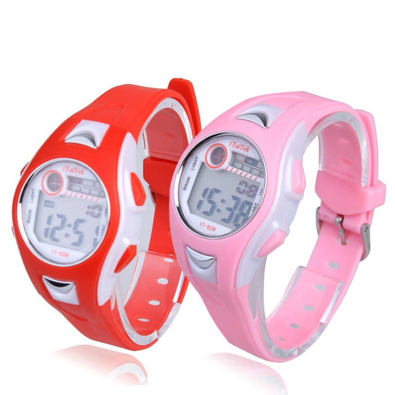 Children Boys Girls Swimming Sports Digital Wrist Watch Waterproof Dress Watch Gifts For Children Kids Clock Sport Watch