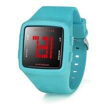 Mujeres de la manera de Los Hombres A Prueba de agua Reloj LED Digital Reloj Deportivo de Silicona Niñas NM5Z Square Reloj Dropshipping Envío Libre