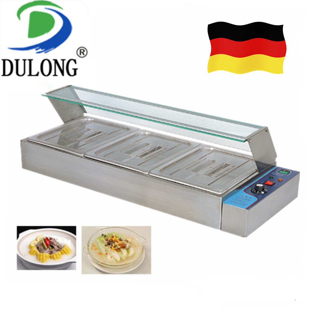 Commercial food processor kitchen equipment machine electric food warmer container good stainless steel electric bain-marie