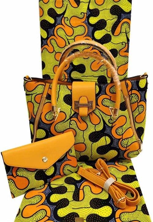 Venta caliente tela de ankara para patchwork tela de cera africana con 2 piezas bolso de mano de mujer 100% tela de algodón tela africana TN A2-in Tela from Hogar y Mascotas    1