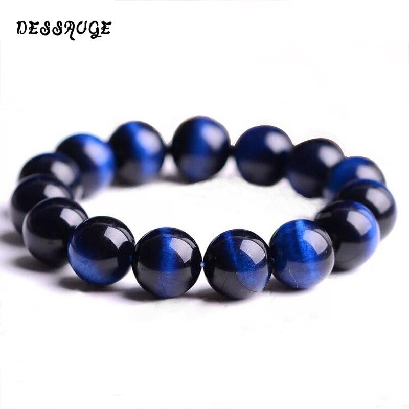DESSAUGE Simple Bracelet Men Blue Tiger Eye Stone Bracelet Luxury Brand Bracelets For Women Natural Jewelry Accessories