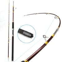 1.8m or 2.1m Heavy duty boat fishing rod super hard raft saltwater jigging glass trolling fishing pole rod test weight 20kg