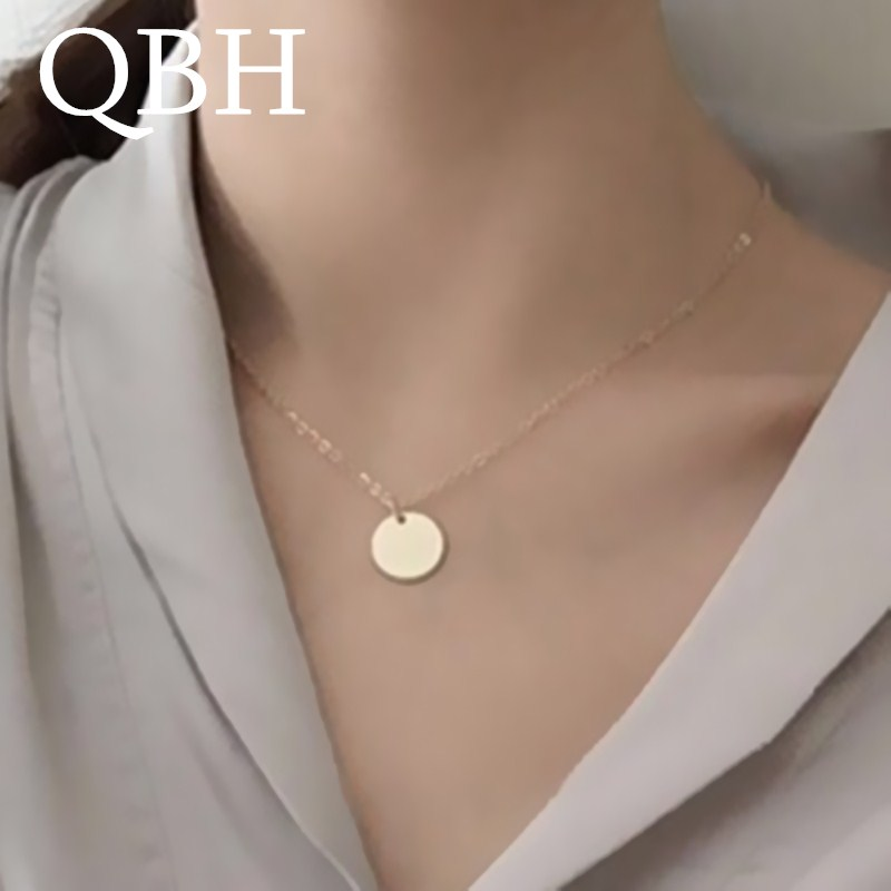 US $0.39 24% OFF|NK1081 New Fashion Punk Round Coin Pendant Necklaces Women Chain Clavicle Collares Jewelry Bijoux Minimalist Mujer ras de cou -in Chain Necklaces from Jewelry & Accessories on Aliexpress.com | Alibaba Group