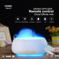 Fimei 500ml Air Humidifier Remote Control Ocean Mist Wood Grain Aroma Diffuser Night Light Oil Diffuser