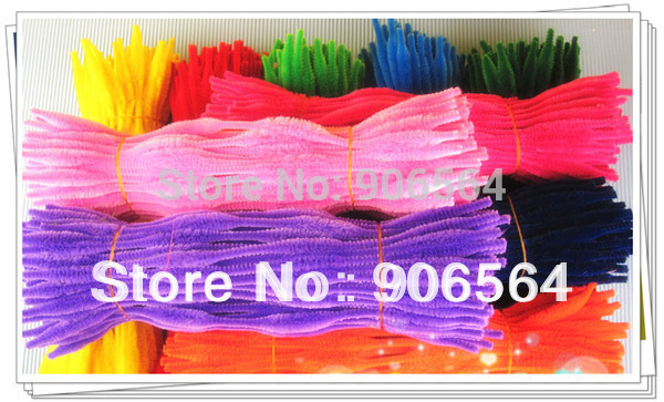 """Buy Free shipping  WAVE FUZZY STICK CHENILLE STEM 12"""" Kid Art Craft,stocking flower accessories 200pcs/lot for only 10.99 USD"""