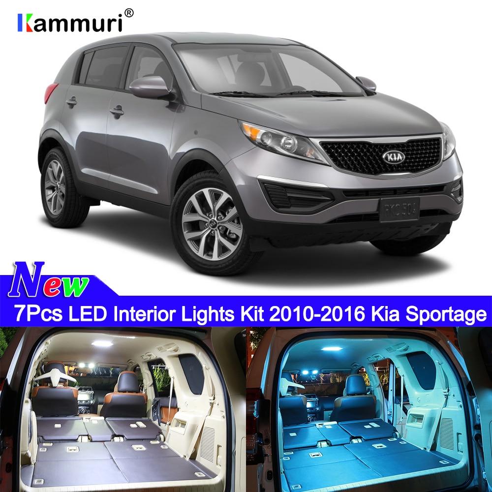 2012 Kia Sportage Interior: 7x Error Free White Interior LED Light Package Kit For