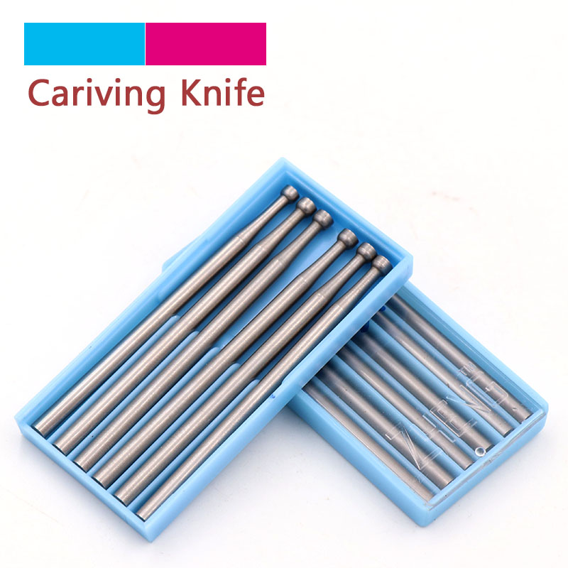 XiZ 1/6pcs 1.0~2.3mm Engraving Knife Precision Tungsten Carbide Burrs Milling Cutter Rotary Tools Recessed Grinding Head 2.35mm