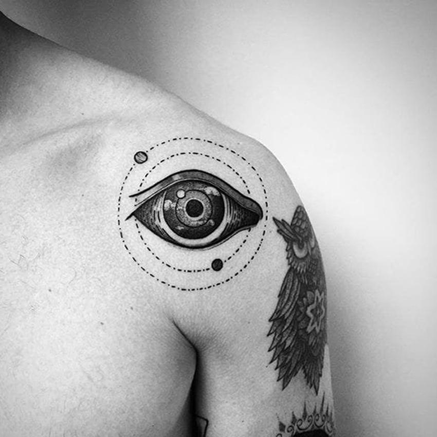 Eyes Of Sky Waterproof Temporary Tattoos Men Yin And Yang Eye Tatouage Temporaire Femme Tatoo Temporary Stickers