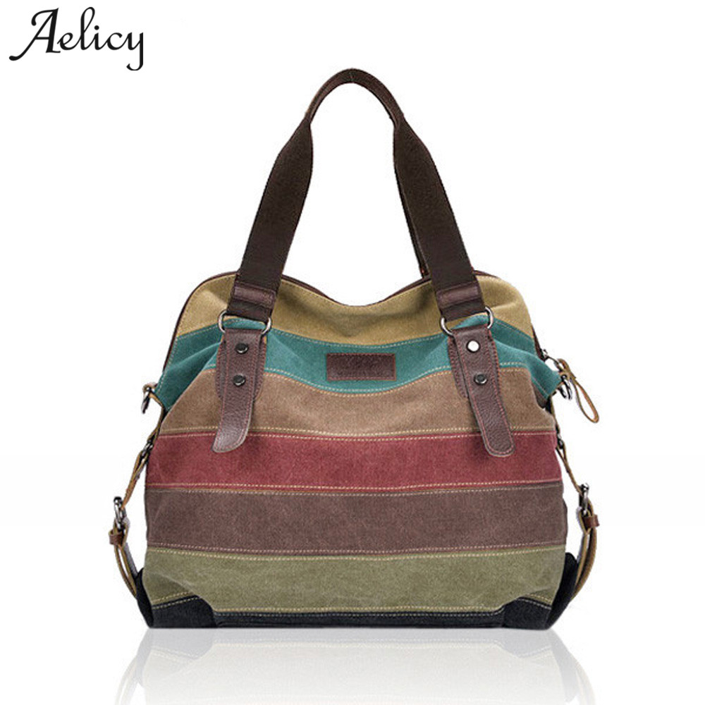Aelicy Canvas brand large capacity shoulder bags for women designer handbags female high quality tote bag fashion bolsa feminina paclan подносы алюминиевые 35см 3шт