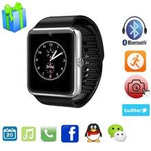 Bluetooth Reloj Inteligente GT08 U8 Digital de Muñeca Con El Deporte de Los Hombres Relogios para el iphone Samsung Huawei Android IOS Teléfono PK DZ09 A1 Gv18