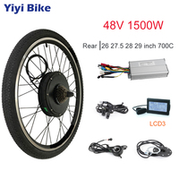 48V Electric Motor Wheel 1500W Rear Wheel Electric Bicycle Conversion Kit With Tire 26 27.5 28 29 700C Brushless Cycling Engine
