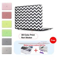 White stripes Black Laptop Computer Bag For Apple Mac Macbook Pro 15 Case Cover Macbook Pro