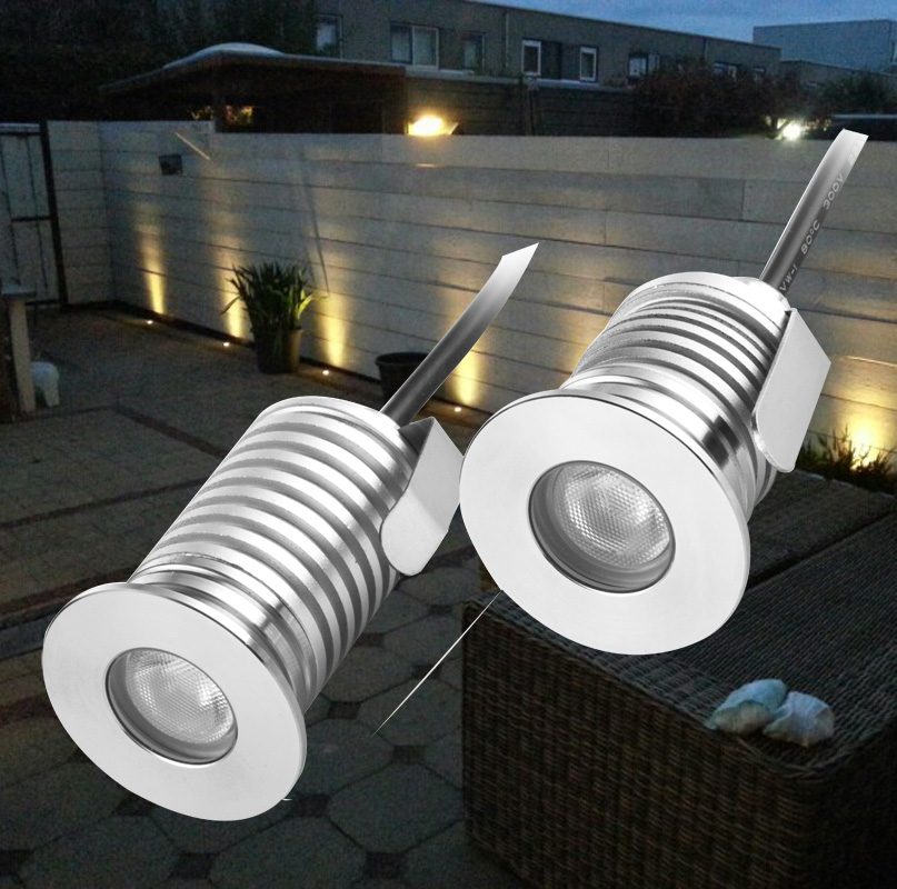 LED Deck Step Light Waterproof IP65 Recessed Stair Lamp Paitio Inground  Spotlight Garden Lamp Wall Lighting 12V 10pcs/lot