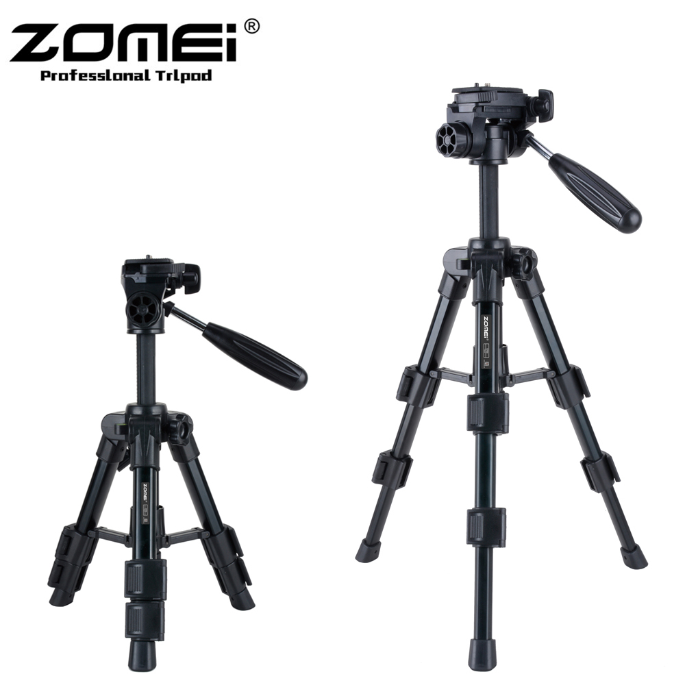Zomei Q100 20 3-way Fluid Head Mini Table Top Tripod for Canon Nikon Sony Pentax SLR DSLR Camera Camcorder with Carrying Bag цена