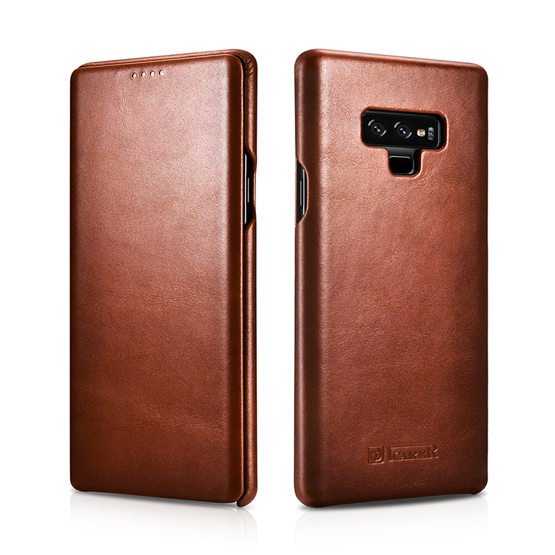 Original Icarer Genuine Leather Case For Samsung Galaxy Note 9 Full Edge Close Flip Cover For Samsung Galaxy Note 9 Phone Cases-in Flip Cases from Cellphones & Telecommunications    1