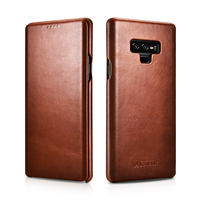 Original Icarer Genuine Leather Case For Samsung Galaxy Note 9 Full Edge Close Flip Cover For Samsung Galaxy Note 9 Phone Cases
